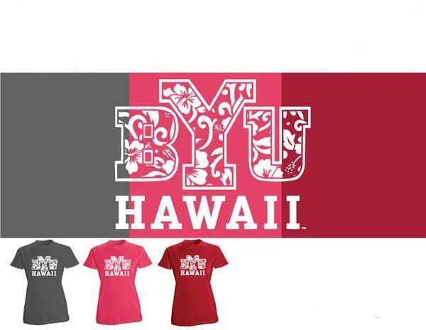 T Shirt Womens Hibiscus Assorted BYU Hawaii Bookstore