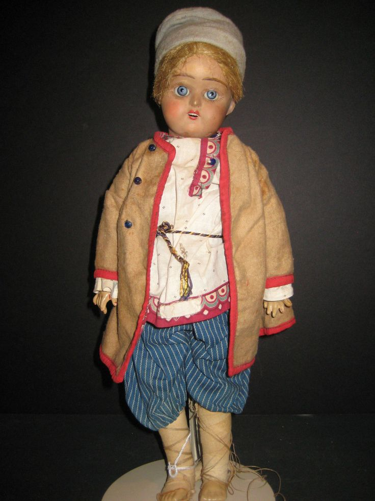"""Adorable Russian Bisque? Kossack Boy 15"""" Tall – Composition Body 