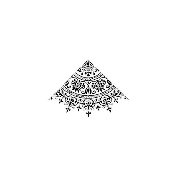 Damask stencils from The Stencil Library - Over 3500 stencil designs... ($58) ❤ liked on Polyvore