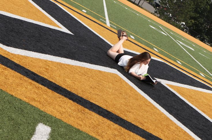 Emily M, VP Communications for the U...takin' a break on a beautiful summer's day.