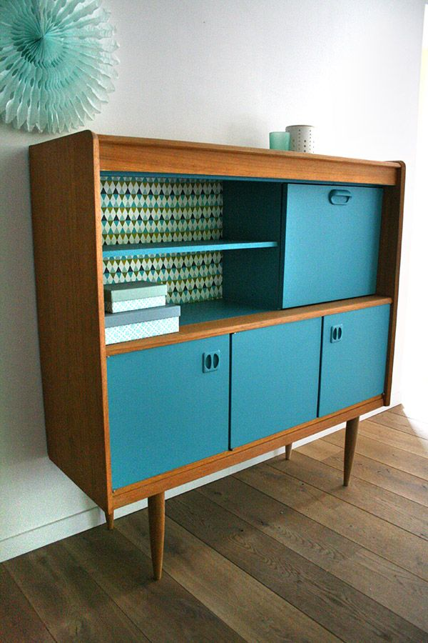 Meubles buffet secretaire vintage oscar 5 r nov s design for Meuble secretaire
