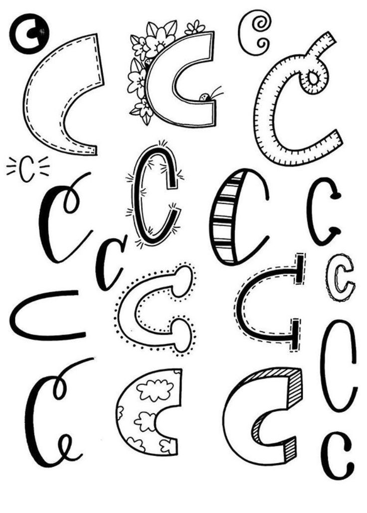 Doodle C #Alfabet #Kalligrafie #Tekenen