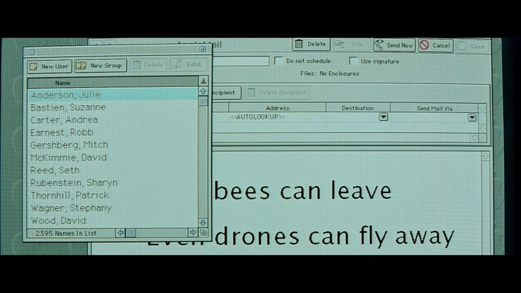 """Fight Club: """"Worker bees can leave/ Even drones can fly away/ The Queen is their Slave."""""""