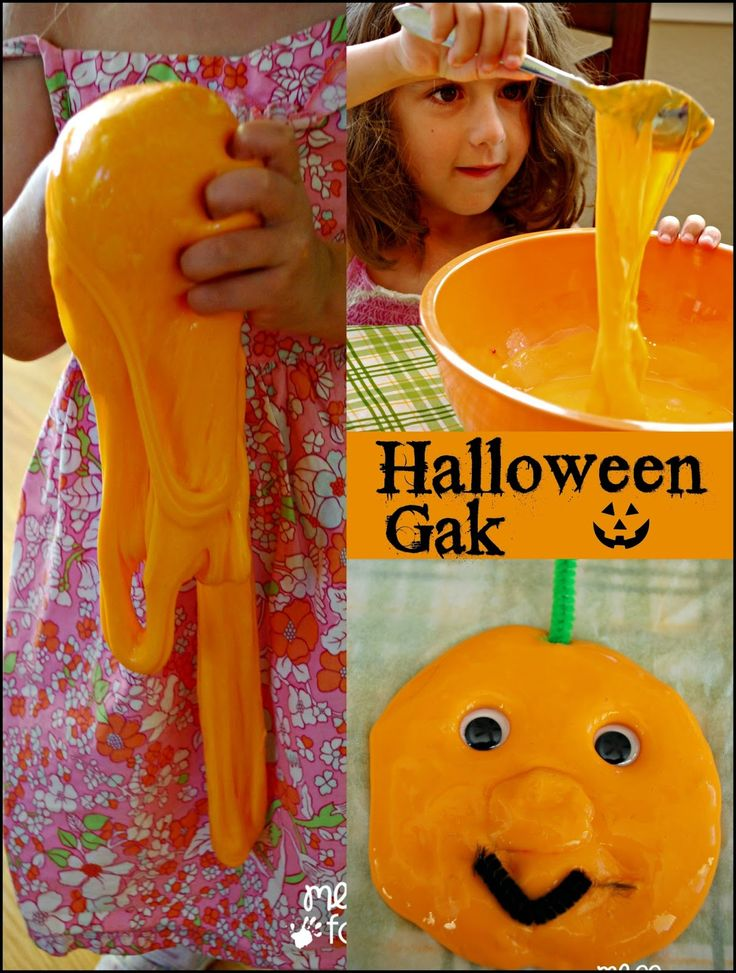 Halloween Gak - This gak is super fun and easy to make. Add some googly eyes and…