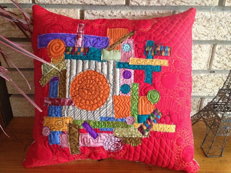 Contemporary/Art Cushion $35.00 for sale on www.catchacreation.com.au Green Gable Quilts