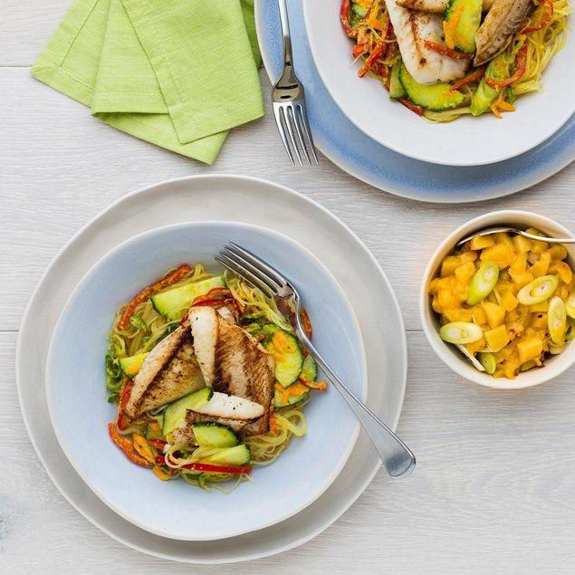 Thai Fish and Vermicelli Salad with Mango Salsa