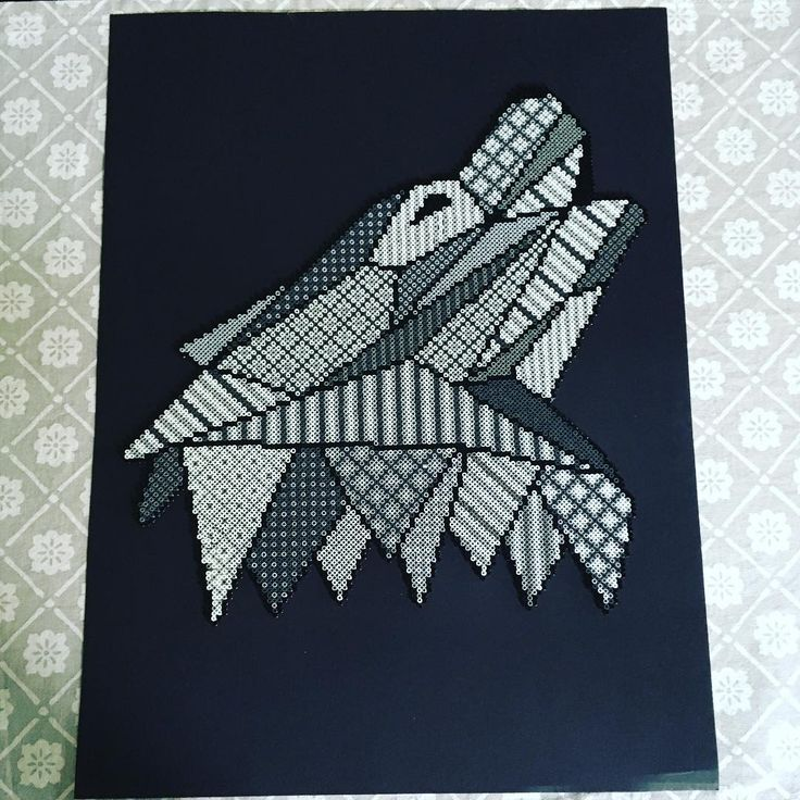 Wolf hama mini beads by theycallme_pg