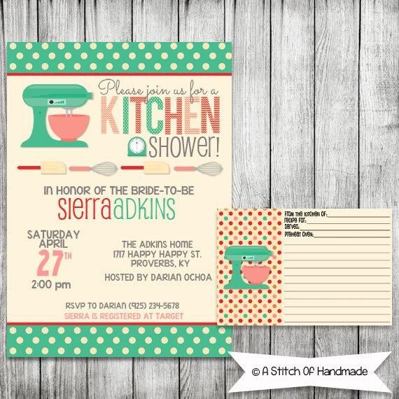 Kitchen Bridal Shower Invitation Printable By Astitchofhandmade Katie 39 S Wedding Ideas