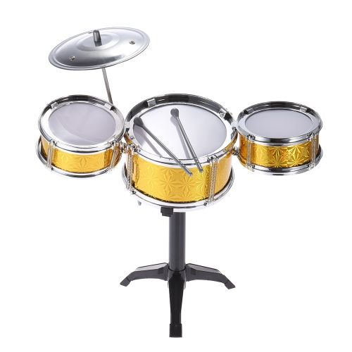 Children Kids Desktop Drum Set 3 Drums Musical Instrument Toy With Small Cymbal Sticks