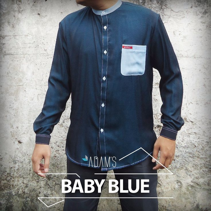 Model Busana Muslim-Baju Koko Eksklusif-Adams Baby Blue-Koko Modern 2015