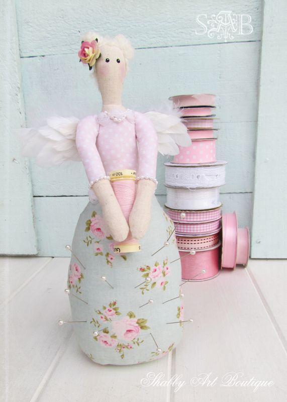 Shabby Art Boutique: Shabby Chic Pincushion Angel