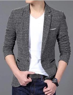 Luxury Men Suit Jacket Casual Slim Fit Costumes chic pour homme