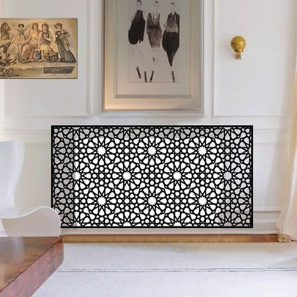 modern-radiator-covers-ideas Moroccan-style-living room decor