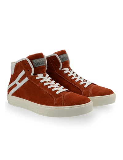 #HOGANREBEL Men's Spring - Summer 2013 #collection: suede High-Top #sneakers R206 with contrasting rubber outsole.