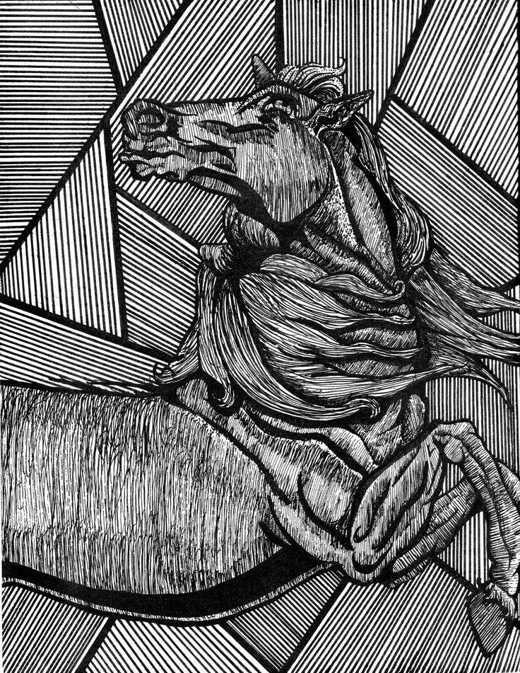 Ilustración caballo