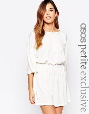 ASOS PETITE Mini Dress With Drape Sleeve