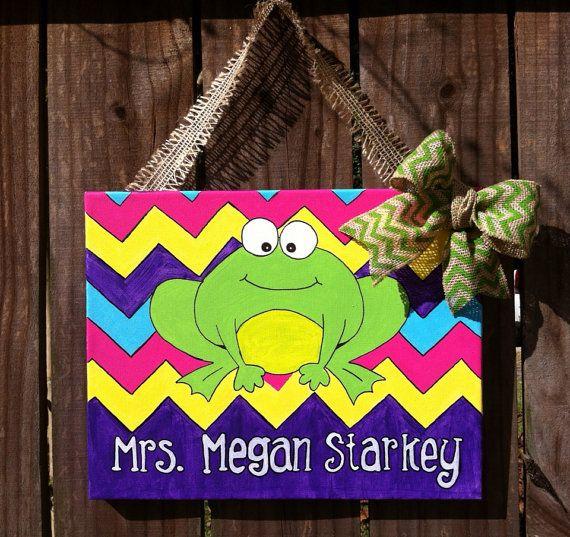 My froggy stuff art classroom decor