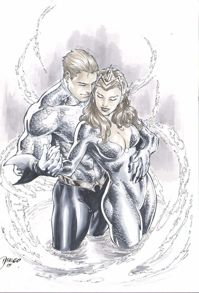 74 Best Aquaman U0026 Mera Images On Pinterest | Cartoon Art Comic Art And Comics
