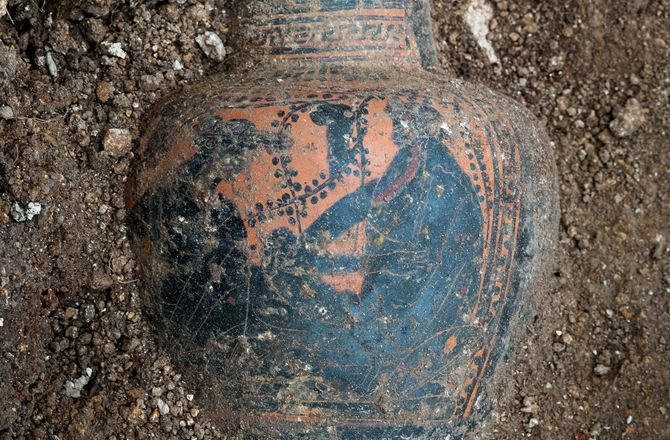 Excavating a Celtic Prince's Tomb: Photos : Discovery News Decorations on the vessel include the god Dionysus, lying under a vine and facing a woman. The Greco-Latin wine set, the northernmost found so far, is typical of an aristocratic Celtic banquet.
