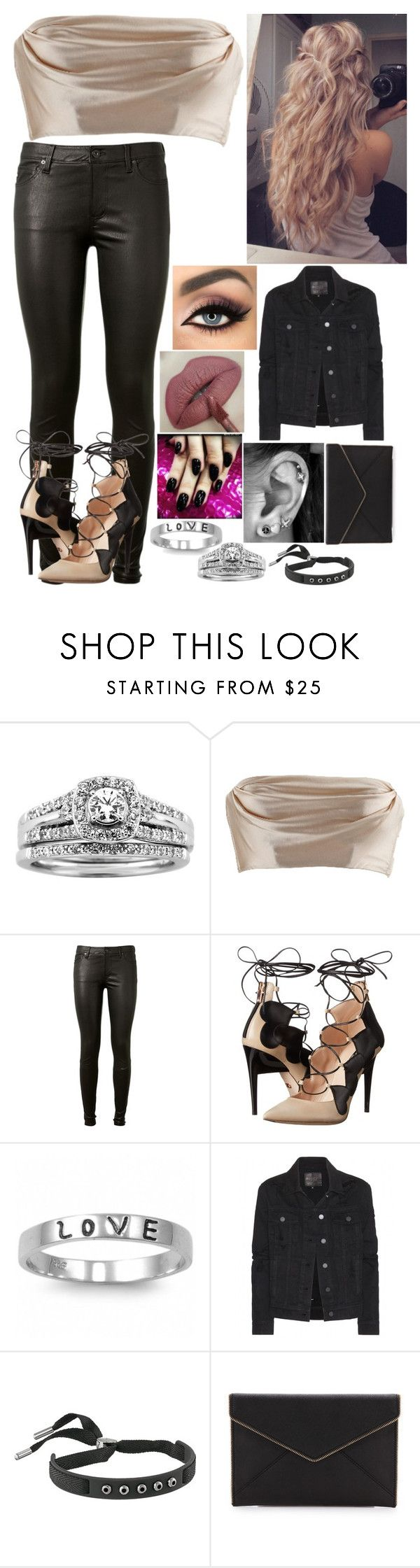 """Untitled #2945"" by nicolerunnels ❤ liked on Polyvore featuring A.Jaffe, AG Adriano Goldschmied, tarte, Ruthie Davis, Fantasy Jewelry Box, Paige Denim, Marc by Marc Jacobs and Rebecca Minkoff"