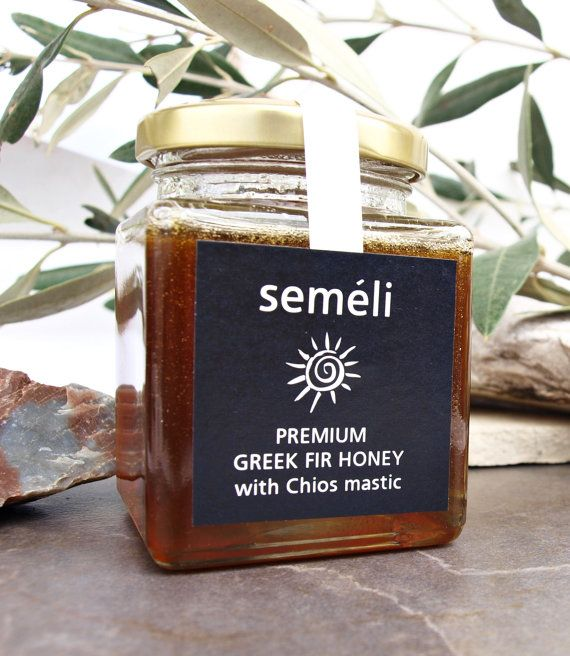Honey with Chios Mastic  Organic Honey/Pure by SemeliBeeProducts