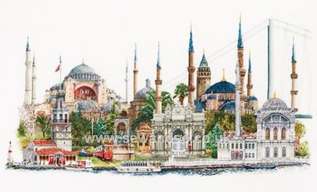 Buy+Istanbul,+36+Count+Cross+Stitch+Kit+Online+at+www.sewandso.co.uk