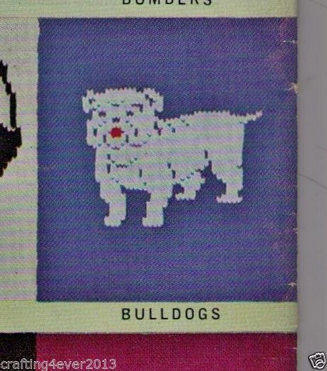 VINTAGE AFL FOOTBALL BULLDOG CHILD GUERNSEY JUMPER 60-75CM 8PLY KNITTING PATTERN