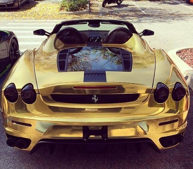 Gold Ferrari. Exotic CarsSports ...