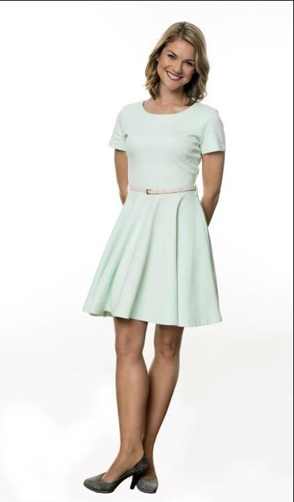 Als Marlene in Sturm der Liebe. Love this dress, the color is gorgeous'