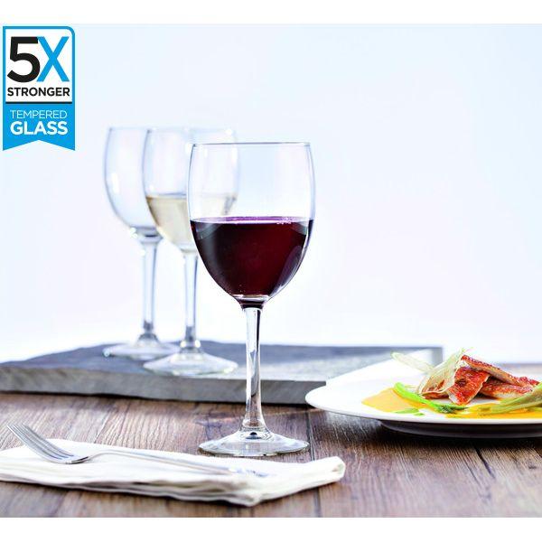 Hostelvia Merlot Tempered Wine Glasses (Set of 12)