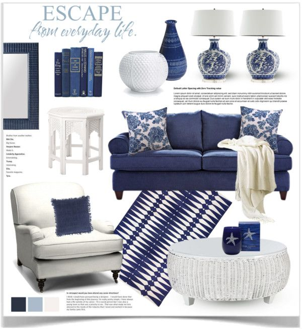 Blue And White Decor By Jpetersen On Polyvore Navy Living RoomsHamptons