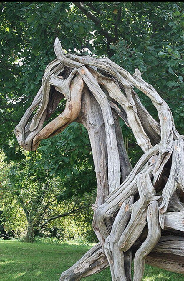 Beautiful driftwood sculpture