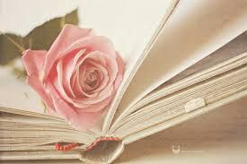 rose with book