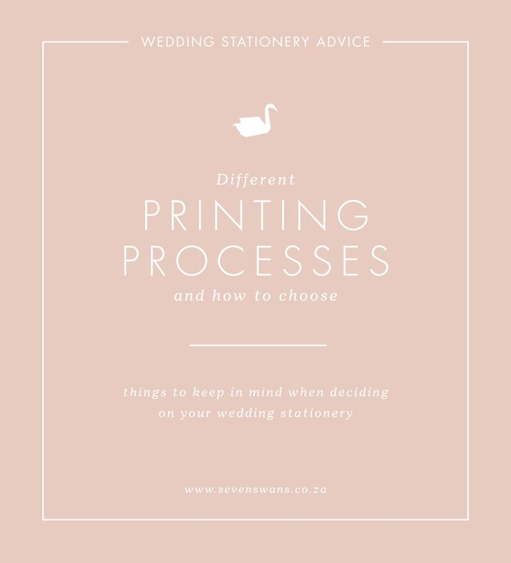 Let's chat about printing methods and processes — Seven Swans   Stationery…