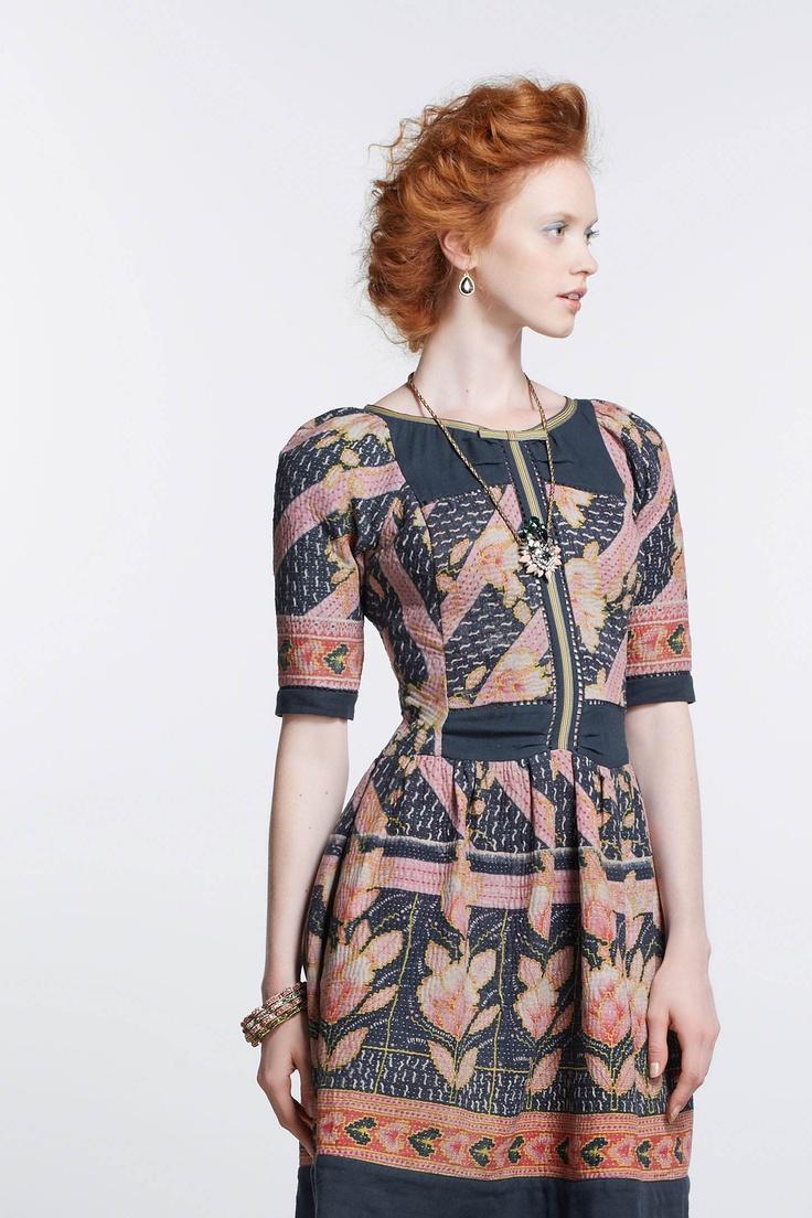 Vanga Vintage Kantha Dress Anthropologie.com.