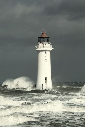 Lighthouse in an Irish Sea Storm -New Brighton's Perch Rock