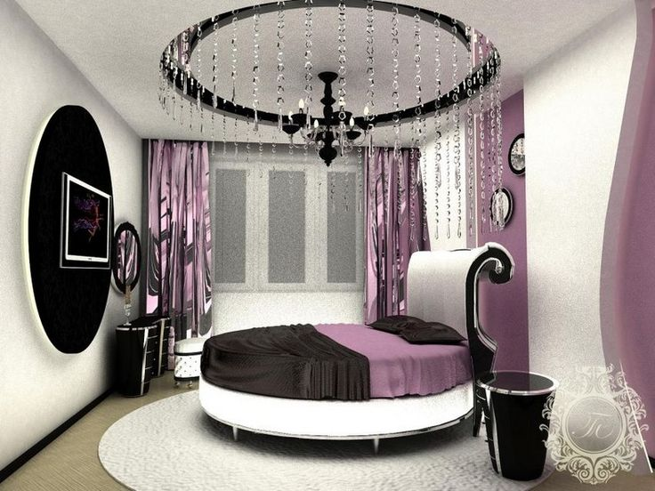 Modern Bedroom Design Ideas With Unique Round Beds And Round Ceiling