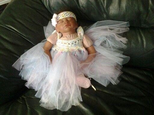 Tutu dress with ballet booties & headband