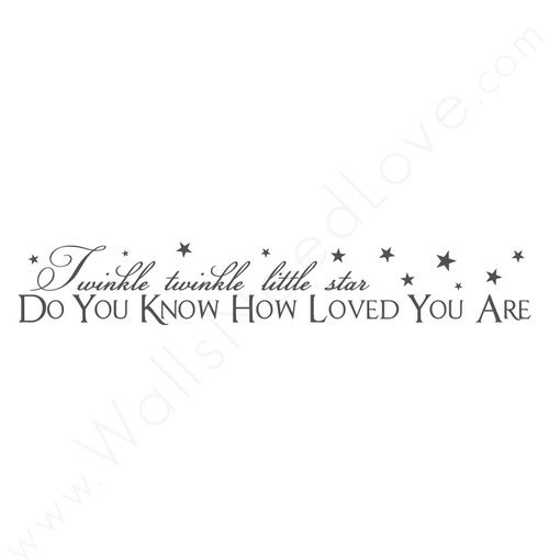 """""""Little Star"""" Vinyl Wall Quote"""