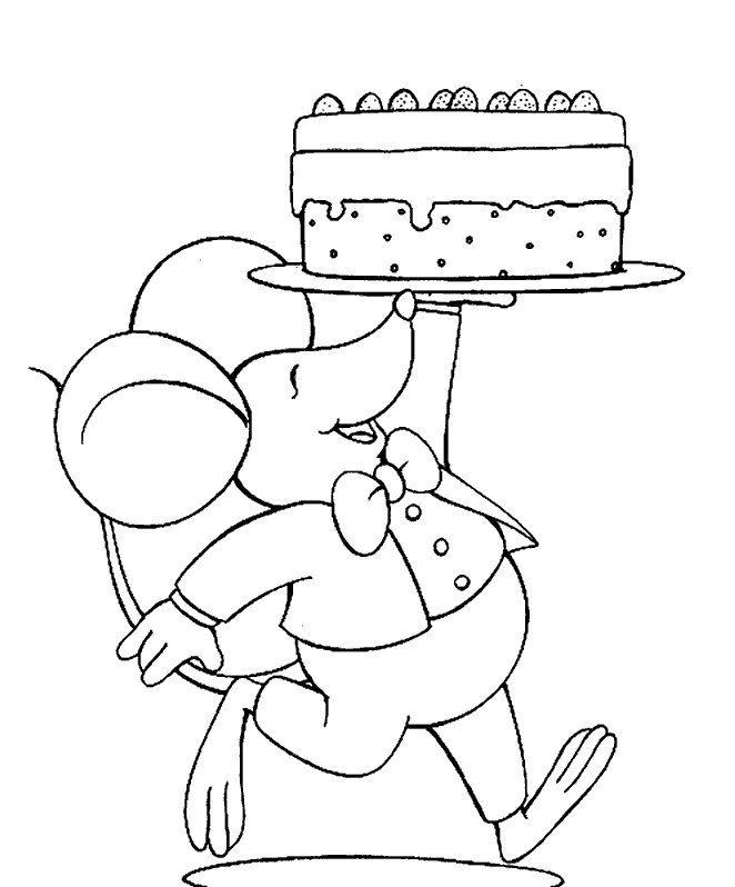 * Muis met taart!