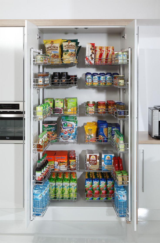 Długa lista zakupów wzbudza Twoją obawę o to, czy zmieścić wszystko w swojej kuchni? Cargo Maxi Front jest świetnym rozwiązaniem!  #kitchen #morespace #cargomaxi #storage