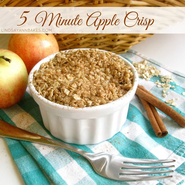 Lindsay Ann Bakes: 5-Minute Microwave Apple Crisp in a Mug (with sugar-free, gluten-free and dairy-free options!)