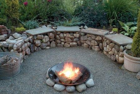 easy gabion firepit