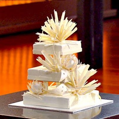 11 layer 3 tier Wedding cake by Adriano Zumbo - MasterChef the professionals Australia 2013 ..unbelievable so good. #modern #white #chocolate