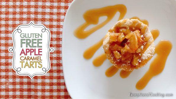 Gluten Free Apple mini Tarts with Caramel Sauce