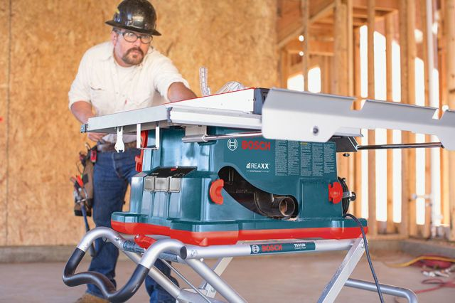 The Bosch Reaxx Jobsite Table Saw Will Save Your Fingers Without Destroying Your Blade