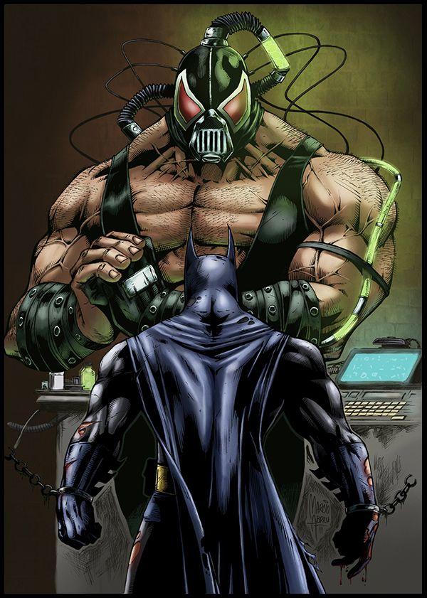 Bane Batman | Batman Vs Bane // pencils and inks by Marcio Abreu, colors by Logicfun ...