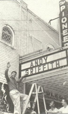 Andy Griffith at Pioneer Theater in Downtown Manteo, NC