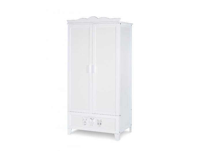 Bílá šatní skříň Panky do stylového dětského pokojíku | Mabyt - CZ