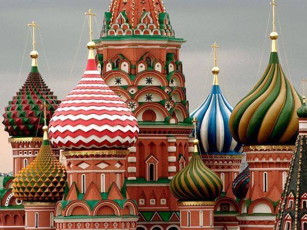 .Domes of the St. Basil's Cathedral, Moscow  I want to go there so much!!